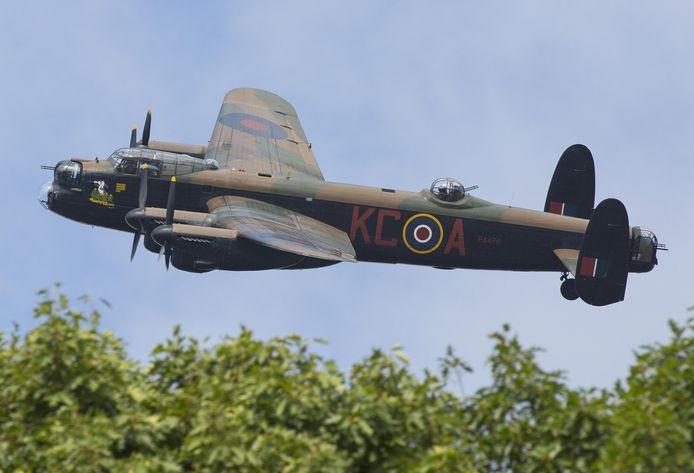 Een toestel van het type AVRO Lancaster.