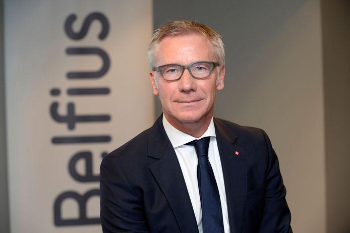 De CEO van Belfius, Marc Raisière