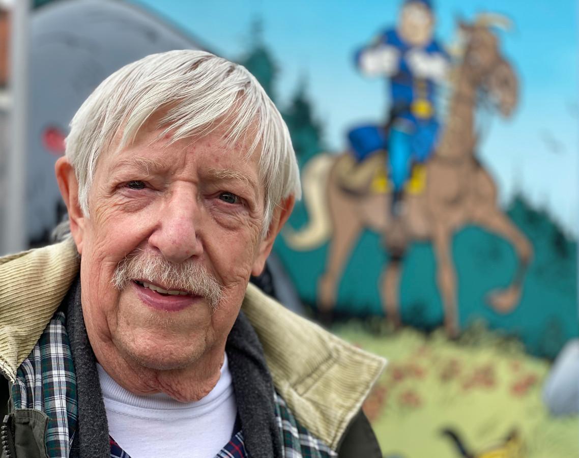 Le scénariste de BD, Raoul Cauvin, était présent lors de l'inauguration du Square Raoul Cauvin à Antoing.