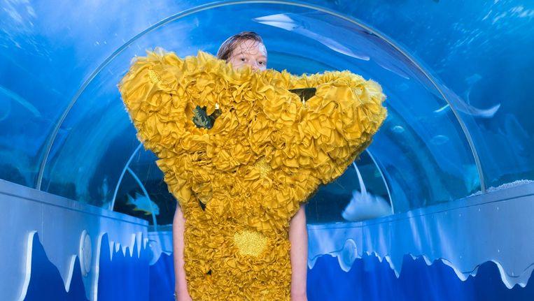 Werk van Marlou Breuls, ter ere van het 20-jarig bestaan van Spongebob. Beeld Imke Panhuijzen