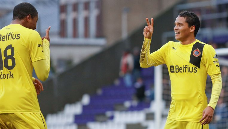 Zowel Bacca (2) als Donk scoorden op het Kiel. Beeld BELGA
