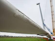Wieken al kapot voordat ze de mast in gaan; forse tegenvaller voor windpark Bommelerwaard-A2