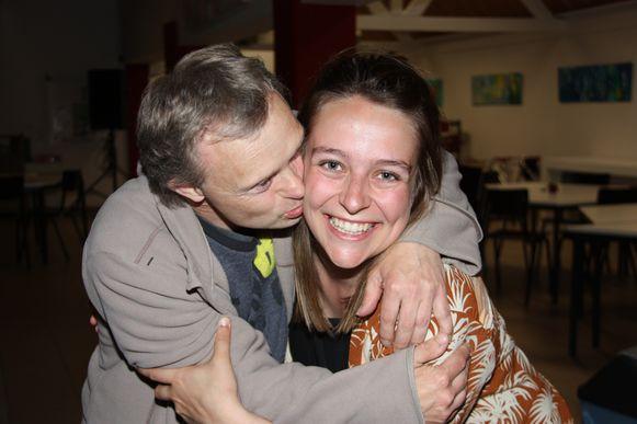 Acteurs Tim Ott van De Sperwer en Laura Rogiers van TG Horzel.