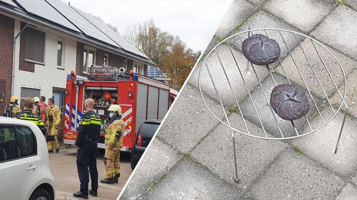 De boosdoeners (rechts) zorgde voor een uitruk van de brandweer