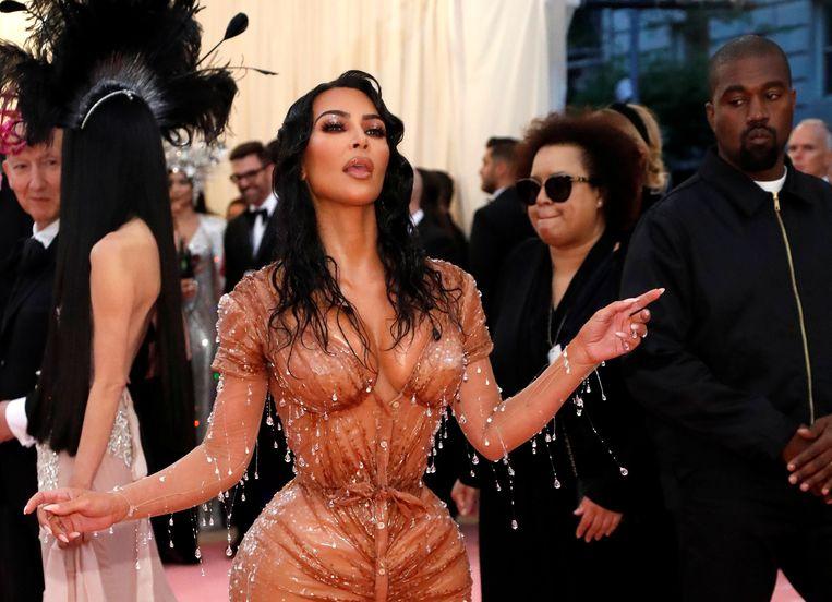 Kim Kardashian stal de show op het Met Gala in New York vorig jaar.