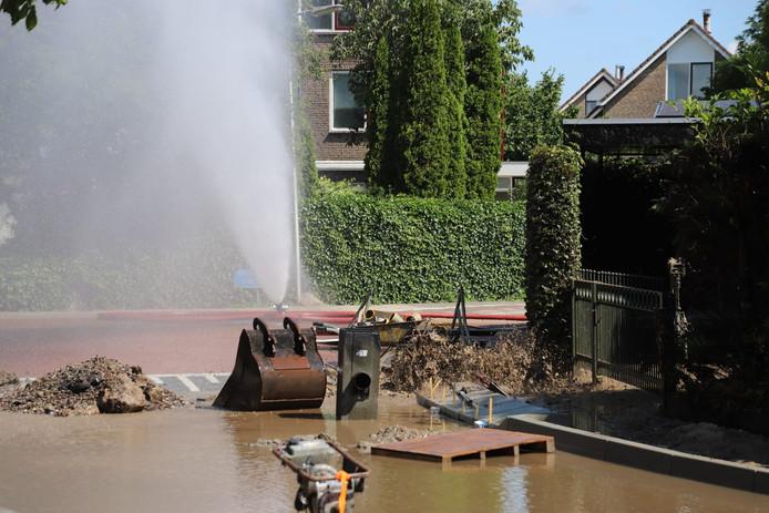 Groot gaslek in Reeuwijk.