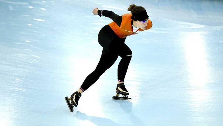 Ireen Wüst in training voor de 1500 meter. Beeld anp