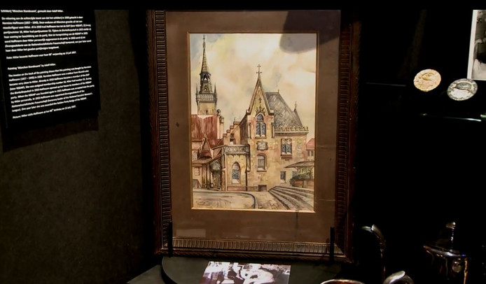 Het schilderij was eigendom van een soort suikertante van Hitler.