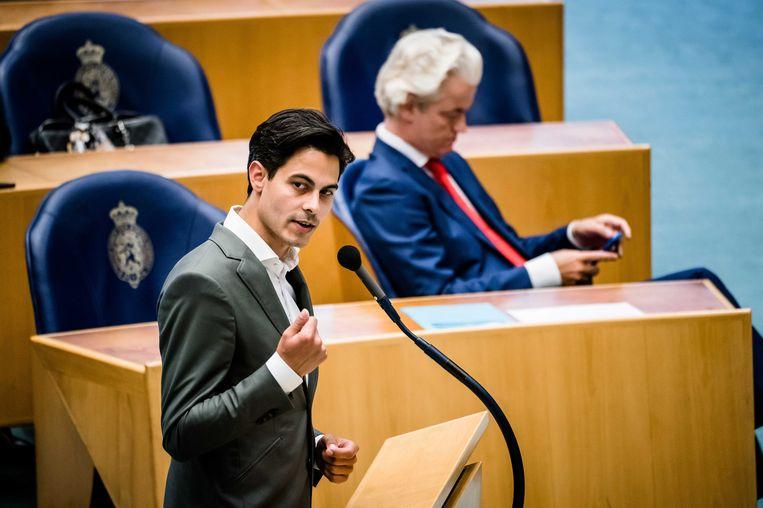 Rob Jetten (D66) en Geert Wilders (PVV). Beeld ANP