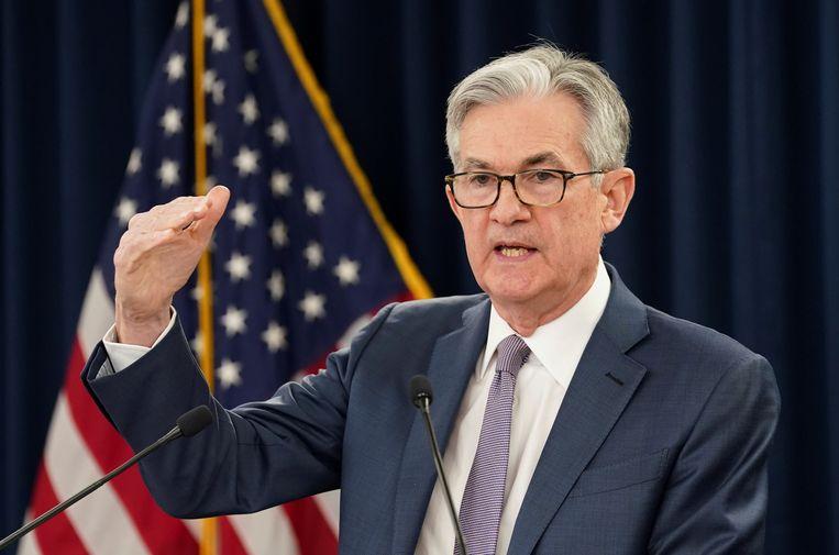 Jerome Powell, voorzitter van de centrale bank van de VS. Beeld REUTERS