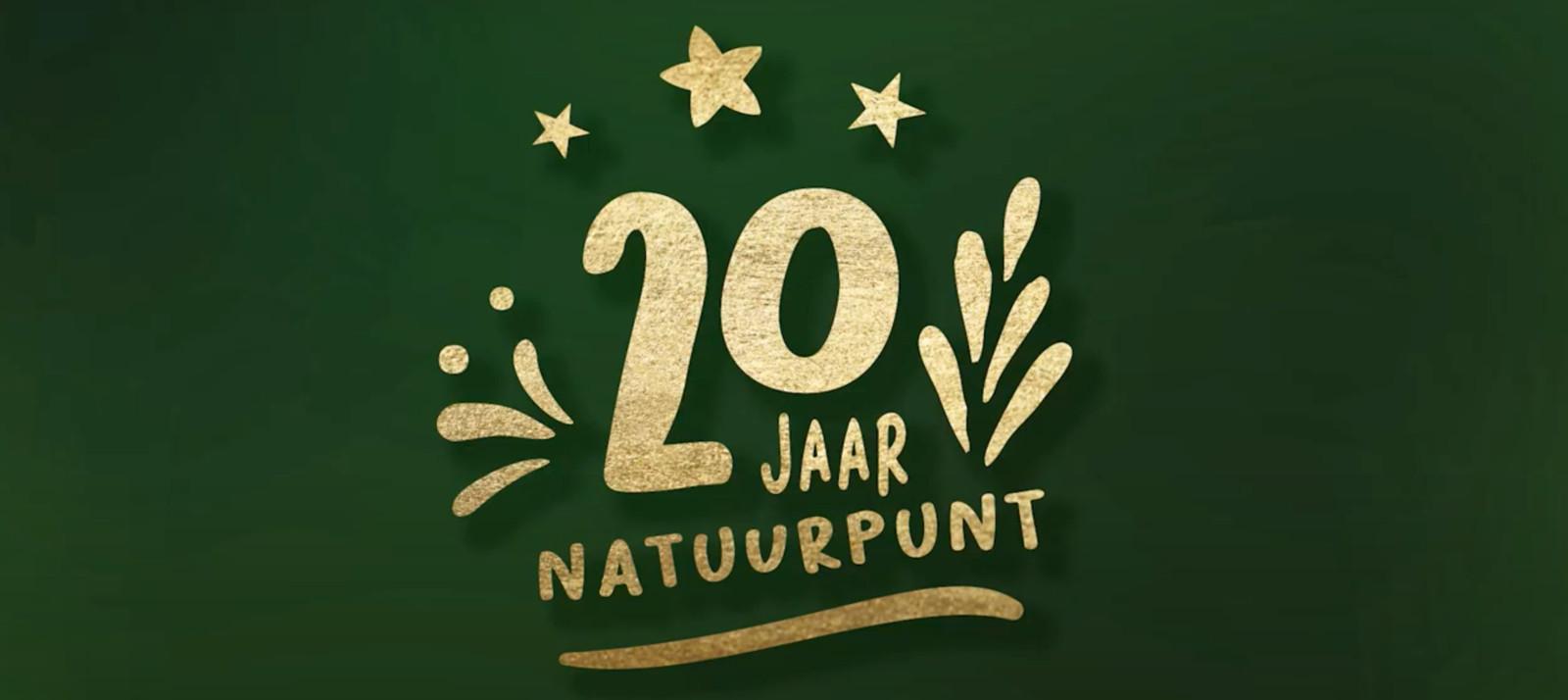 Het 20-jarig bestaan van Natuurpunt wordt gevierd.