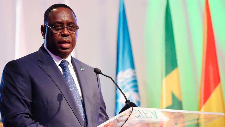 De Senegalese president Macky Sall Beeld AFP