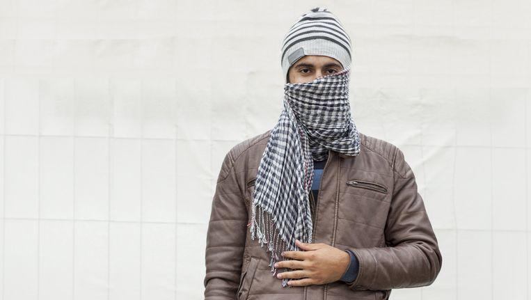Faris al Kadi. Aleppo. Ook hij arriveerde donderdag in Ter Apel. Hij komt niet in het verhaal voor. Beeld Harry Cock/de Volkskrant