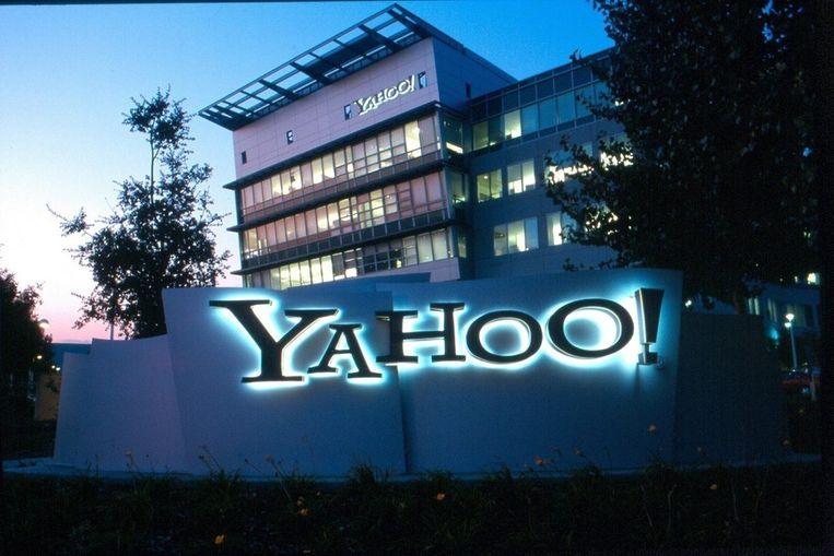 Het hoofdkwartier van Yahoo in Sunnyvale, Californië. Beeld epa
