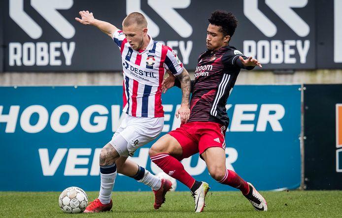 Feyenoorder Keyennu Lont is een van de spelers die tot eind deze week stage loopt bij Helmond Sport.