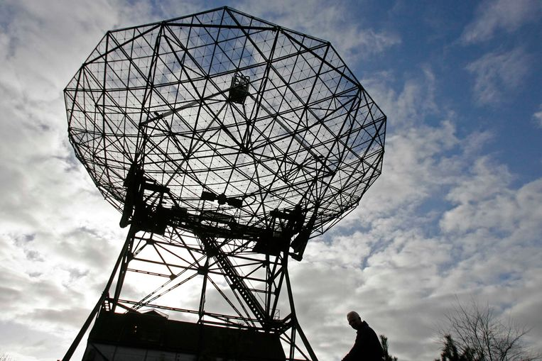 De radiotelescoop van Astron in Dwingeloo. Beeld ANP