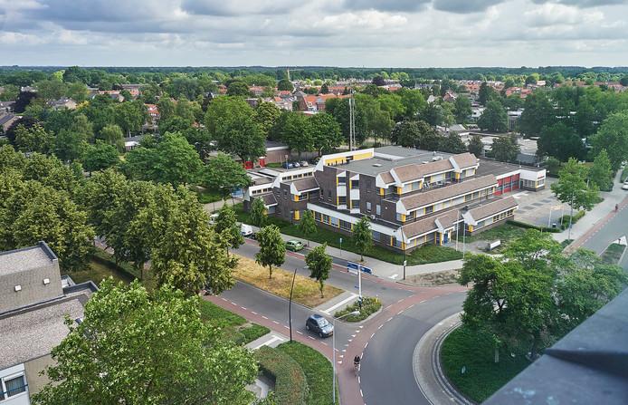 Politiebureau en brandweerkazerne aan de Leeuweriksweg in Uden.