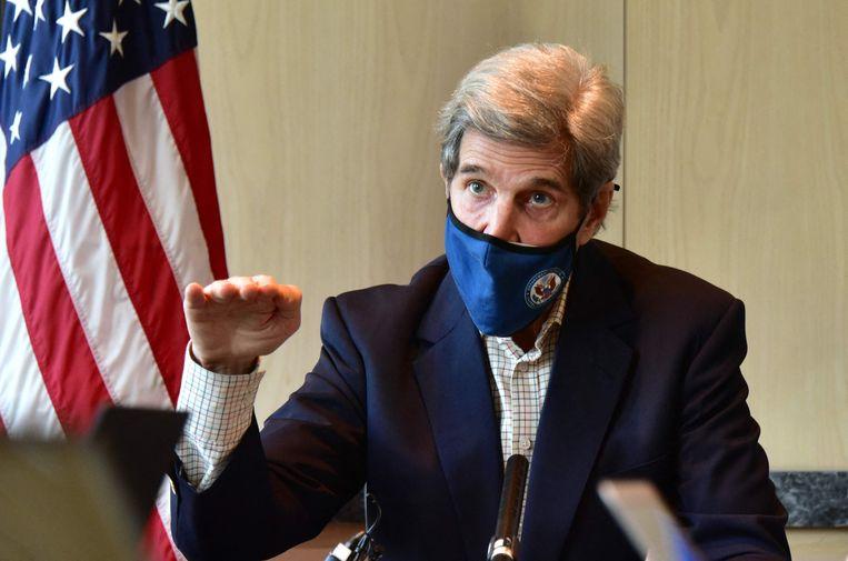 De Amerikaanse klimaatgezant John Kerry. Beeld AFP