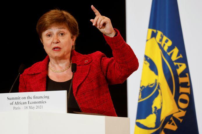 Directeur Kristalina Georgieva van het Internationaal Monetair Fonds (IMF).