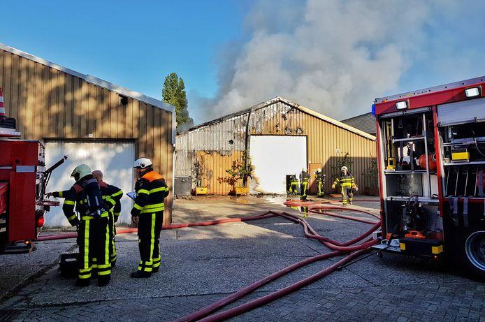 De brand bij het aanhangerbedrijf in Goirle.