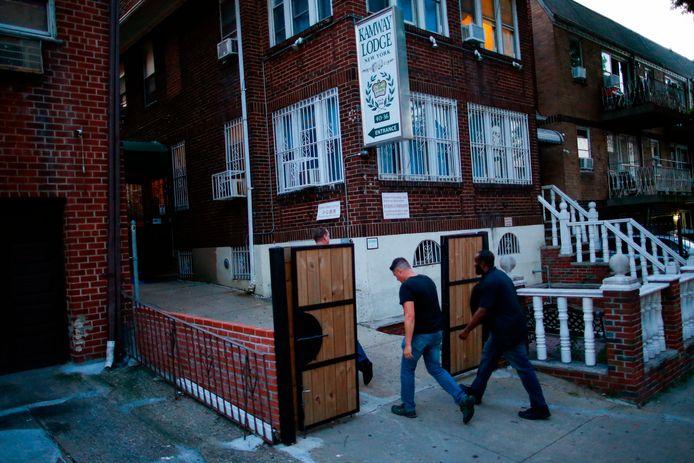 De Kamway Lodge in het New Yorkse stadsdeel Queens, het hotel waar de Italiaan in een kamer dood werd gevonden.