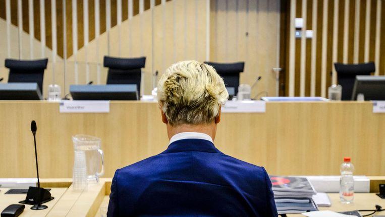 Wilders in de rechtbank in maart dit jaar Beeld anp