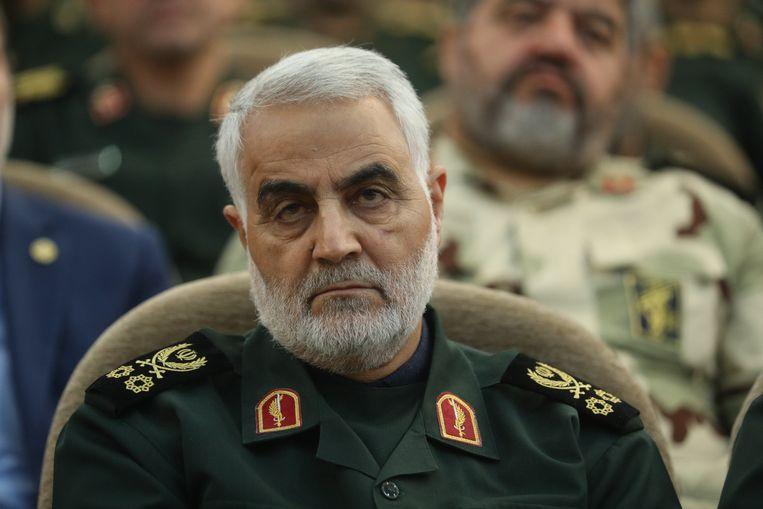 Trump liet de Iraanse generaal Qassem Suleimani ombrengen, om zo de invloed van Iran in Irak en Syrië af te remmen. Beeld Photo News