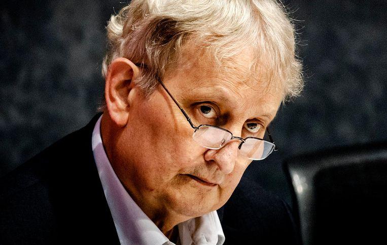 Eberhard van der Laan vorige week bij, wat later bleek, zijn laatste raadsdebat voordat hij zich maandag officieel ziek meldde. Beeld ANP