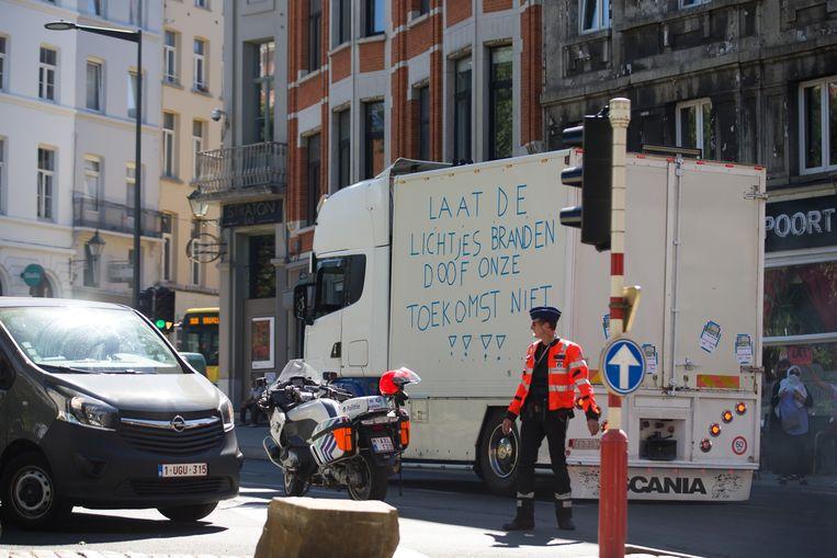 Vorige week trok een duizendtal foorkramers door de straten van Brussel om de annulatie van de Zuidfoor aan te klagen.