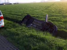 Auto belandt in greppel bij Hasselt, bestuurder opgepakt voor drugsgebruik