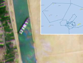 Containerschip tekende gigantische fallus in Rode Zee voor blokkering in Suezkanaal