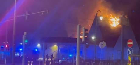 Incendie d'une ancienne station-service à Auderghem