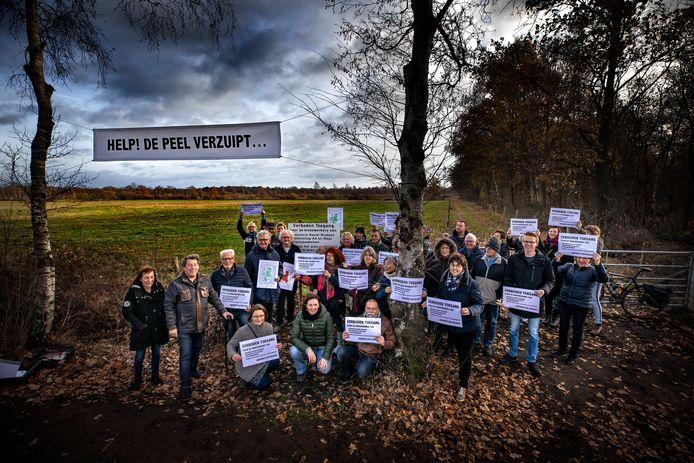 Protest tegen de vernatting van de Peel in Deurne