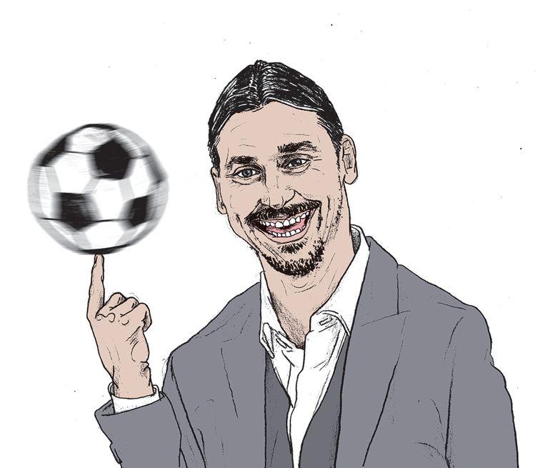 Toen topclub Arsenal vroeg of de Zweedse tiener Ibrahimovic kon komen testen, weigerde hij. 'Zlatan doet geen audities.' Beeld Gijs Kast