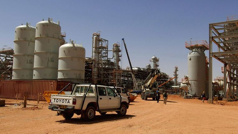 Het gasveld dat het toneel is van de gijzelingsactie op archiefbeeld. AFP PHOTO / STATOIL / KJETIL ALSVIK Beeld afp