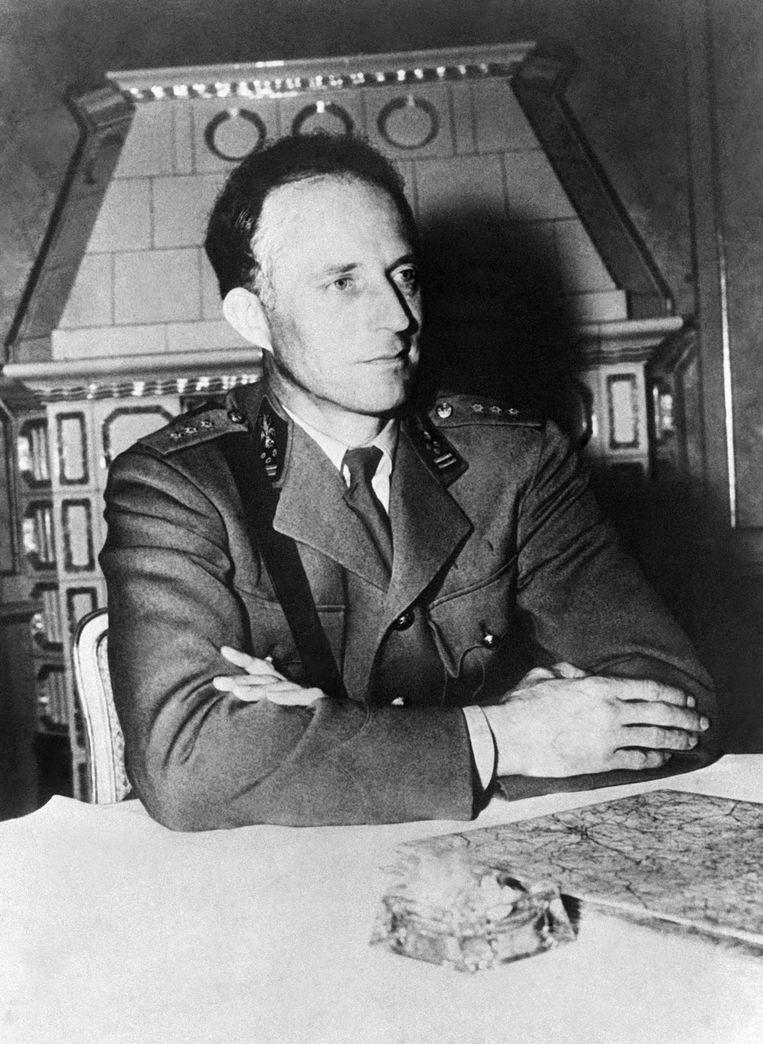 Leopold III in Strobl, 16 mei 1945. Hij beschouwde zichzelf als de buitengewoon briljante strateeg dankzij wie deze hele oorlog is uitgedraaid op een succes voor de geallieerden. Beeld Gamma-Keystone via Getty Images