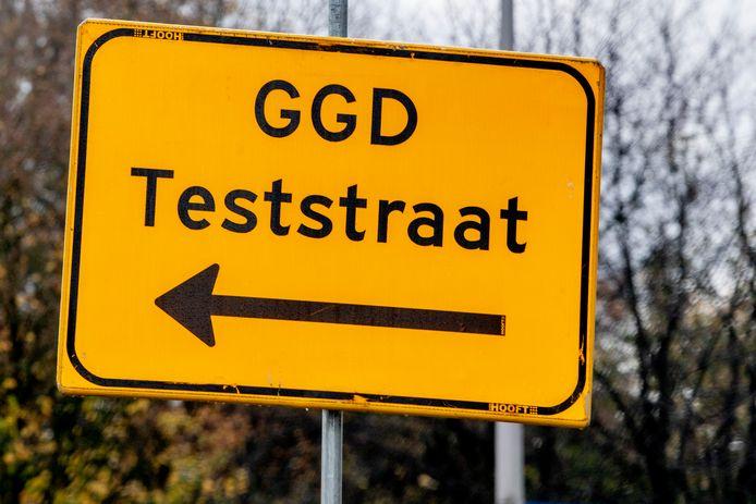 Een teststraat van de GGD