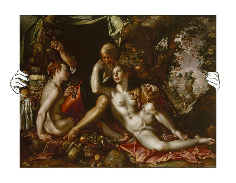 Joachim Wtewael, Lot en zijn dochters. Beeld Hermitage Museum, St Petersburg