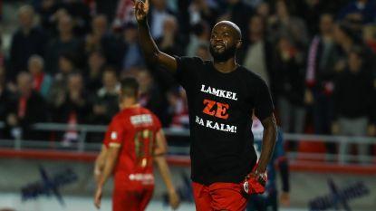 Lamkel Zé knipoogt naar zichzelf met Antwerps shirt na wereldgoal: 'Lamkel Zé na kalm!'