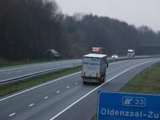 A1 weer open bij Oldenzaal-Zuid na bergen vrachtwagen