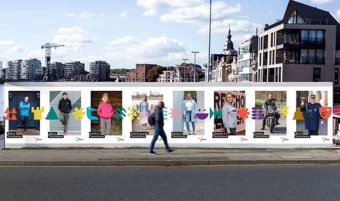 Met portretten van Temsenaren zal de nieuwe huisstijl gepromoot worden.