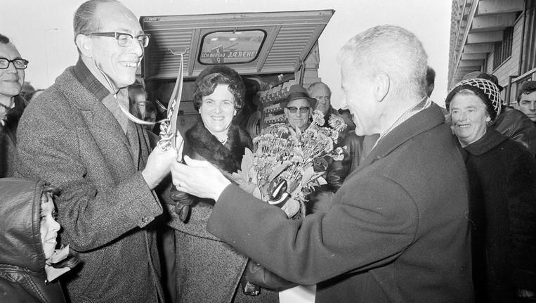 Het echtpaar Copray, de 'eerste' bewoners van de Bijlmermeer. Beeld anp