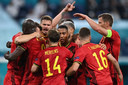 België viert de 2-0.