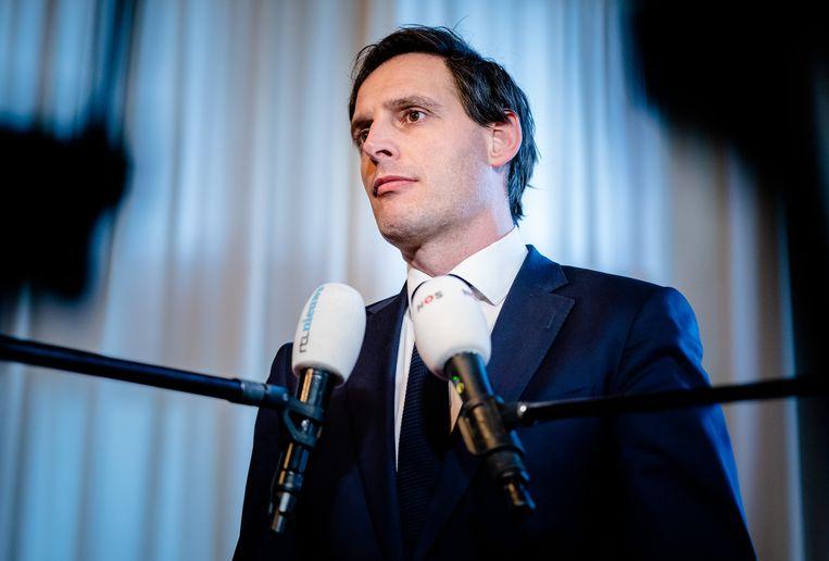 Hoekstra: 'Er is in een crisis geen plaats voor het toekennen van bonussen bij bedrijven die overeind gehouden moeten worden met staatssteun.' Beeld Hollandse Hoogte /  ANP