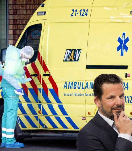 Een vriend van Jerry Goossens stond voor het raam te huilen toen zijn buurvrouw werd afgevoerd in een ambulance