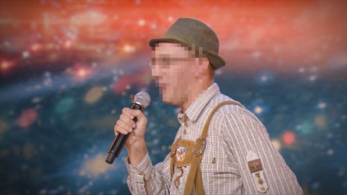 Dietwin H.  tijdens zijn deelname aan Belgium's Got Talent.