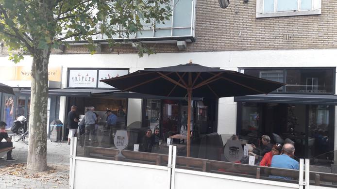 Het huidige terras van restaurant Triple B.