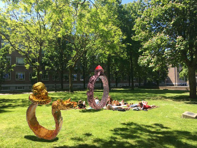 Het ontwerp 'De Ring van Breda' van Folkert de Jong, voor een Artikel 1-monument in Breda.
