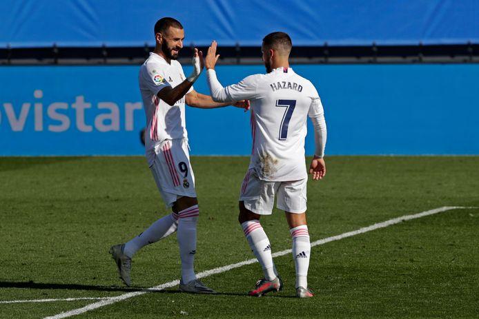 Eden Hazard et Karim Benzema ne joueront pas lundi, mais sont proches d'un retour à la compétition.