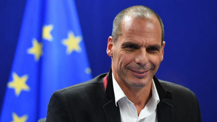 De Griekse minister van Financiën Varoufakis. Beeld AFP
